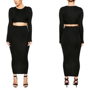 NAKED WARDROBE 'PULL ME IN TIGHT' TWO PIECE SET